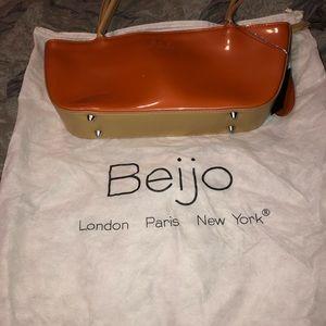 Beijo Orange & Tan purse.